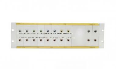 19-inch 3RU patchbay | 20x RCA unbalanced to one male golden 39-pin Siemens connector on the back  | SF205