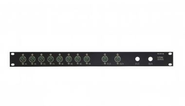 19-inch 1RU 10x male XLR patchbay  | SF212