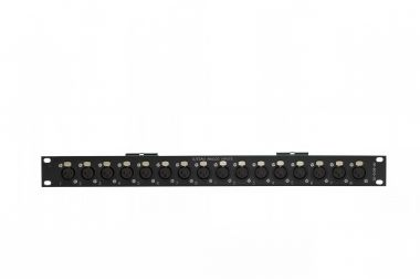 19-inch 1RU 16x female XLR patchbay  | SF213