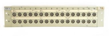 19-inch 3RU HF13 to BNC video patchbay with 32 inputs | SF229