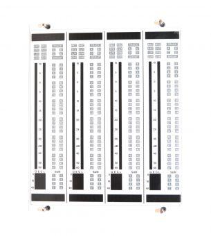 LAWO MC²82 block of four stereo meters