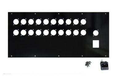 VT19-5U Rückwand für 21 XLRs & NES