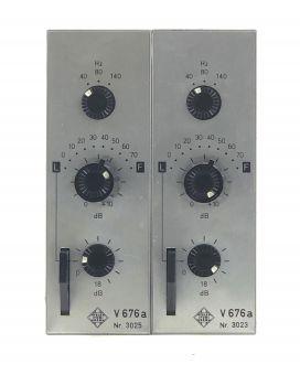 2x Telefunken V676a mic preamps | matched pair | mint | close serials