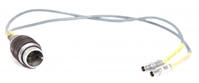 Large male 5-pin Tuchel to 2x Lemo Series 0S | FFP 0S
