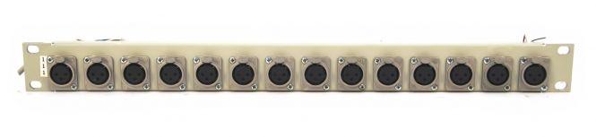 19-inch 1RU 14x XLR patchbay  | SF9
