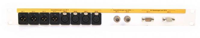 19-inch 1RU patchbay   8x Neutrik gold XLR   2x BNC   2x db9   SF11