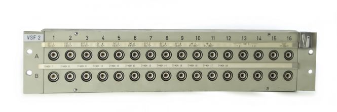 19-inch 3RU HF13 to BNC video patchbay with 32 inputs | SF201