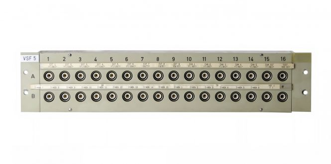 19-inch 3RU HF13 to BNC video patchbay with 32 inputs | SF202