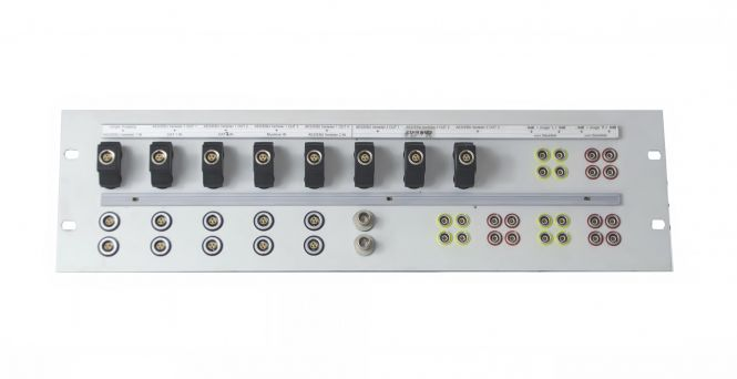 19-inch 3RU Lemo patchbay | 24x Lemo Series 0S | 26x Lemo AES | 2x BNC | 8x bridge connectors | SF204