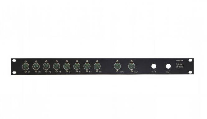 19-inch 1RU 10x male XLR patchbay  | SF212