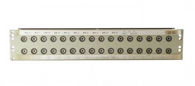 19-inch 3RU HF13 to BNC video patchbay with 32 inputs | SF218