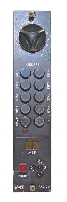Lawo 369/22 Schaltkassette