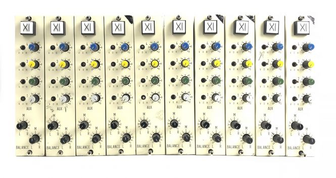 10x Neumann SKC stereo aux and pan modules | vintage danner mixer
